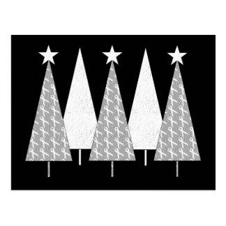 Christmas Trees - White Ribbon Postcard