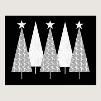 Christmas Trees - White Ribbon Postcard