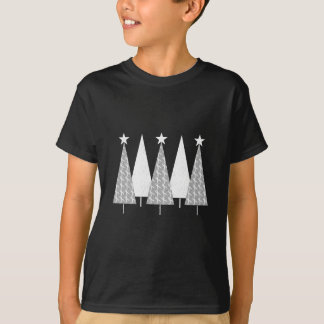 Christmas Trees - White Ribbon T-Shirt