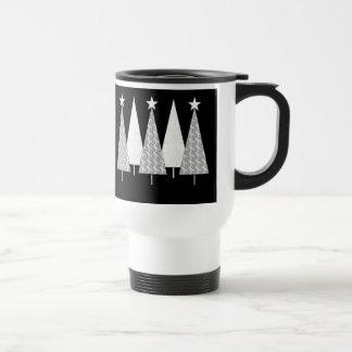 Christmas Trees - White Ribbon Travel Mug
