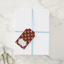 christmas trees winter holiday pattern gift tags