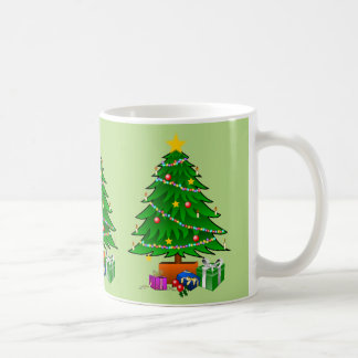 Christmas Trees with Lights Packages Custom Color Coffee Mug