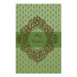Christmas Trees with Metallic Gold design Personalized Stationery