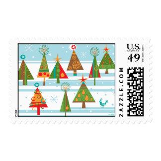 Christmas Trees Wonderland Postage