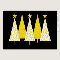 Christmas Trees - Yellow Ribbon Card
