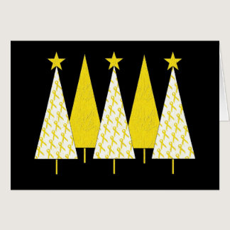 Christmas Trees - Yellow Ribbon Card