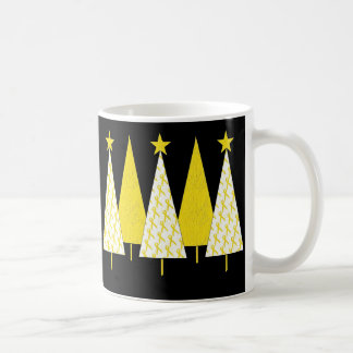 Christmas Trees - Yellow Ribbon Coffee Mug