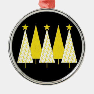 Christmas Trees - Yellow Ribbon Ornament