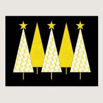 Christmas Trees - Yellow Ribbon Postcard
