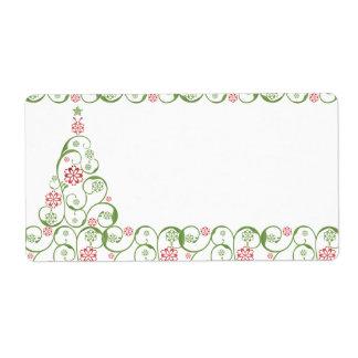Christmas TreeSnowflake Swirl Christmas Gifts Tags