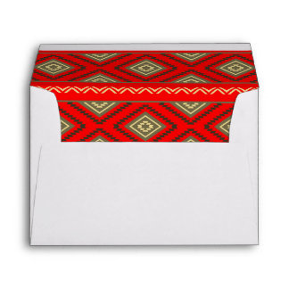 Christmas tribal envelope