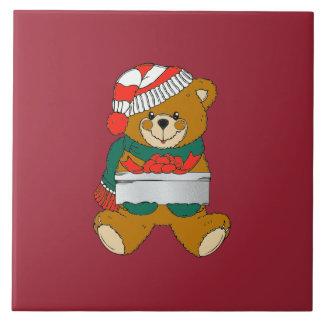 Christmas Trivet Teddy Bear Tile