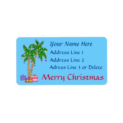 Christmas Tropical Address Labels with...