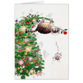 Christmas Trouble Greeting Card