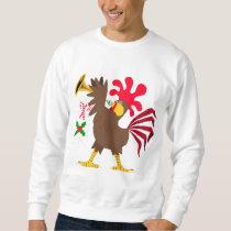 Christmas Trumpeting Rooster Sweatshirt