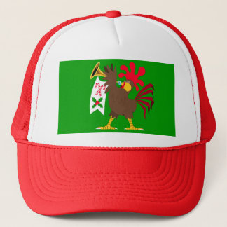 Christmas Trumpeting Rooster Trucker Hat
