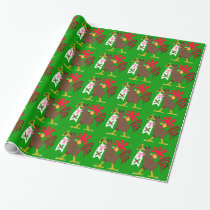 Christmas Trumpeting Rooster Wrapping Paper