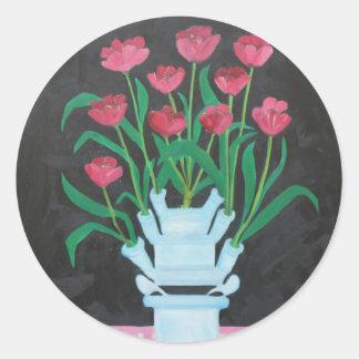 Christmas Tulips Stickers