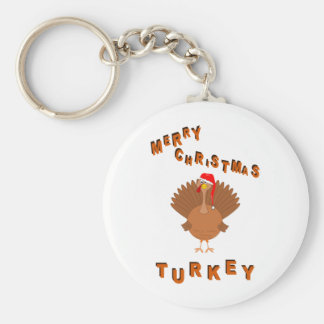 Christmas Turkey Cartoon Keychain