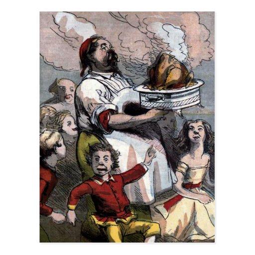 """""""Christmas Turkey"""" Vintage Illustration Post Card"""