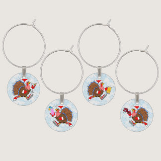 Christmas Turkeys - Wine, Beer, Cocktail, Martini Wine Charm