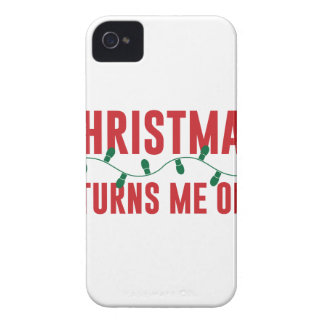 Christmas Turns Me On iPhone 4 Case