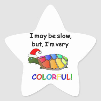 Christmas Turtle gift items! Star Sticker