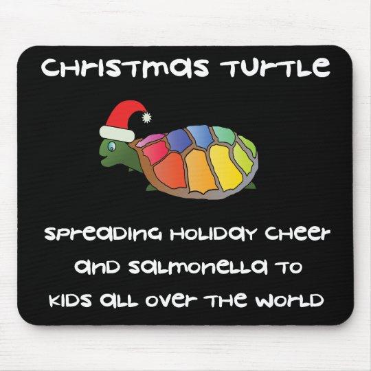 Christmas Turtle Mouse Pad