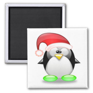 Christmas Tux 2 Inch Square Magnet