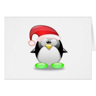 Christmas Tux Greeting Card