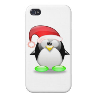 Christmas Tux iPhone 4 Cover