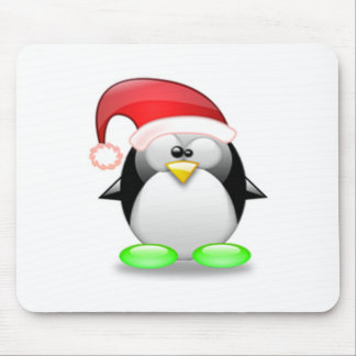 Christmas Tux Mouse Pad