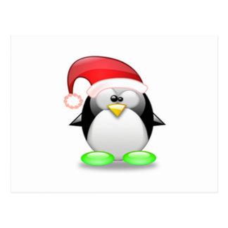Christmas Tux Postcard