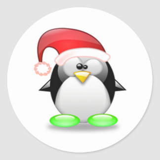 Christmas Tux Sticker