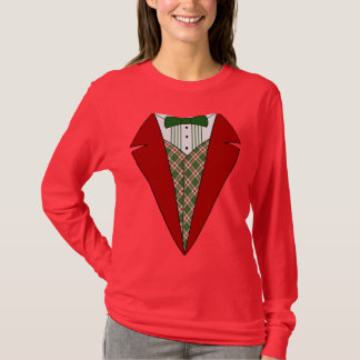 Christmas Tuxedo, Red and Green Elf T-Shirt