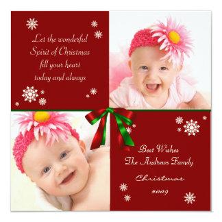 Christmas Two Photo Greeting Card