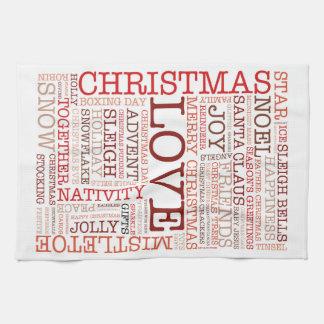 Christmas Typography Hand Towel