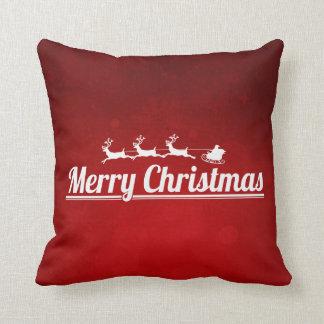 Christmas Typography Throw Pillow