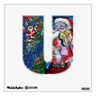 CHRISTMAS U LETTER /SANTA  CLAUS WITH VIOLIN WALL SKINS