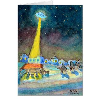 Christmas UFO Cards
