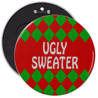 Christmas ugly sweater button