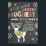 "Christmas Ugly sweater party Chalkboard red green Invitation<br><div class=""desc"">♥ A perfect way to invite you guests to your party!</div>"