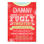 Christmas Ugly sweater party Fugly Sweater red Card