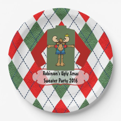 Christmas Sweater Personalized Paper Plate