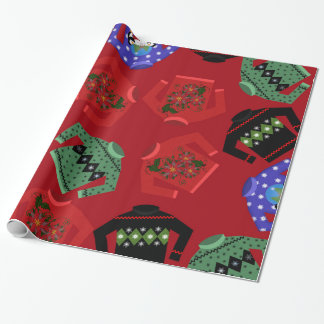 Christmas Ugly Sweaters Glossy Wrapping Paper