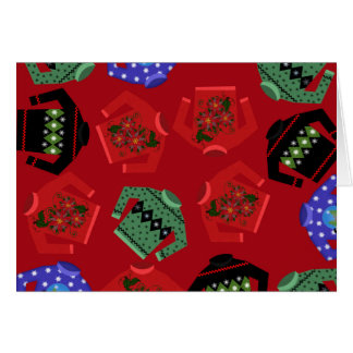 "Christmas Ugly Sweaters Greeting Cards, 7"" x 5"" Card"