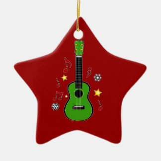 Christmas Ukelele! Ceramic Ornament