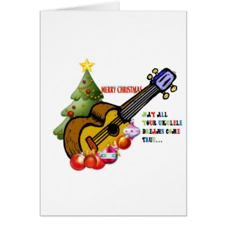 Christmas Ukulele Shirt Greeting Card