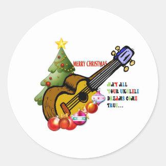 Christmas Ukulele Shirt Stickers