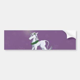 Christmas Unicorn Bumper Sticker